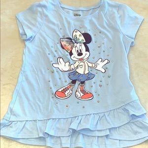 Girls Minnie Mouse shirt